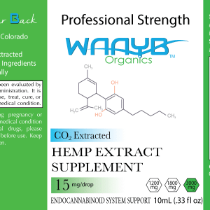WAAYB Organics Professional Strength Hemp Extract Oil